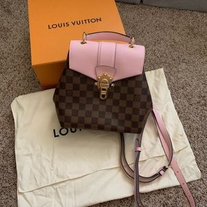 LV Damier Clapton Backpack in Pink